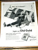 Old Gold Cigarettes  Advertisement