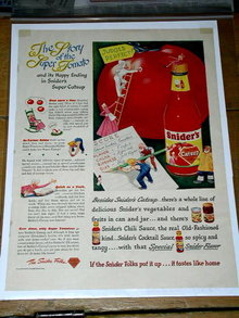 Snider's Catsup  Advertisement