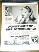 Borden's Starlac Milk  Advertisement
