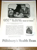 Pillsbury's Health Brand Cereal  Advertisement