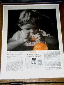 California Orange Juice  Advertisement