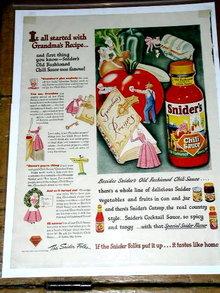 Snider's Chili Sauce  Advertisement