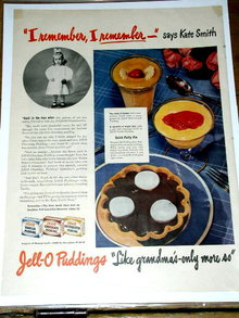 Jell-o Puddings  Advertisement