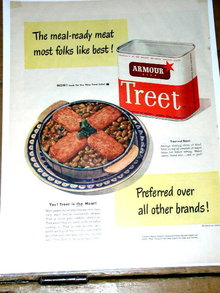 Treet Canned Meat  Advertisement