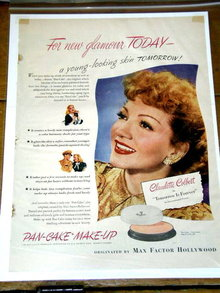Max Factor  Make-Up Advertisement