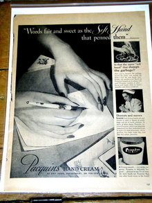 Pacquins Hand Cream  Advertisement