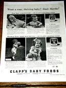 Clapp's Baby Foods  Advertisement