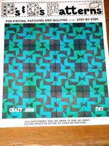 Crazy Ann Quilt Pattern  -  PTB