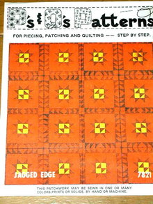 Jagged Edge Quilt Pattern  -  PTB