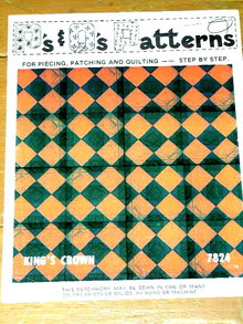 The King's Crown Quilt Pattern  -  PTB
