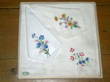 Boxed set of 3 Hankies