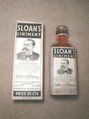Sloan's Liniment Bottle and Box