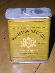 Phillip Morris Metal Cigarette Tin