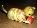 Wind up Roll-Over Cat with Ball Toy