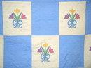 Floral Bouquet Appliqued Quilt -  QLT