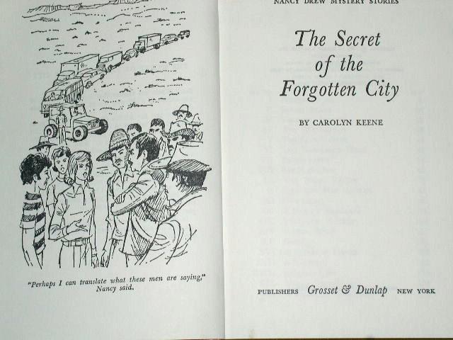 Nancy Drew - The Secret of the Forgotten City Book