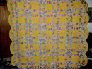 1930's Double Wedding Ring Quilt -  QLT