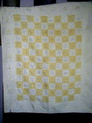 Yellow and White Gingham Crib Quilt -  QLT