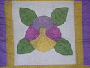 Pansy Appliqued Quilt -  QLT