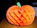 Halloween Diecut Beistle Honeycomb Pumpkin
