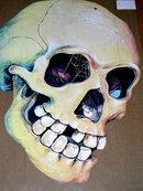 Halloween Diecut Dennison Skull
