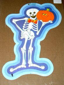 Halloween Diecut Dennison Skeleton & Jack-o-Lamtern