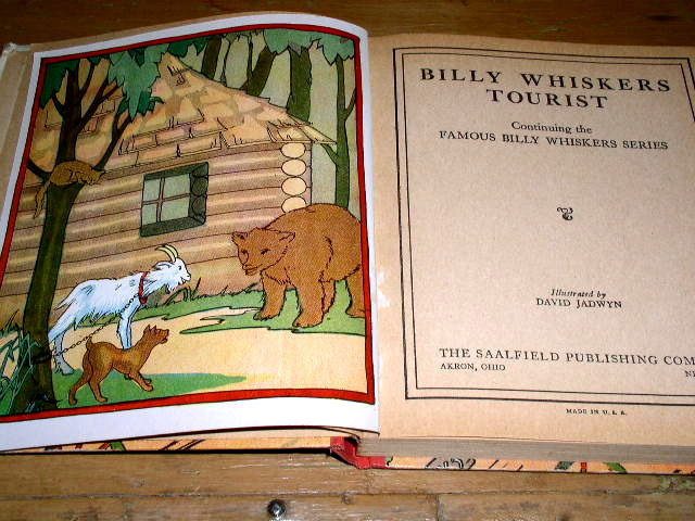 Billy Whiskers Tourist Book