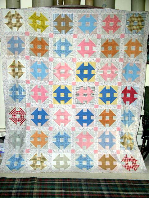 Shoo-Fly Quilt Top 1880's -  QTP