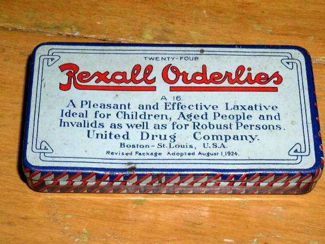 Rexall Orderlies Laxative Tin