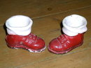 Plaster Santa Boot Candy Container