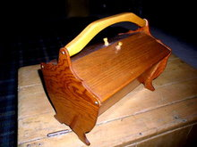 Butternut Wood Sewing Box