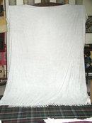 Chenille Bedspread, Double, White