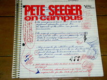 Pete Seeger on Campus - 33 Record Album