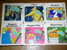 Sesame Street 45 Record Albums