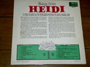 The Songs From Heidi,  Walt Disney Children's 33 Record Album