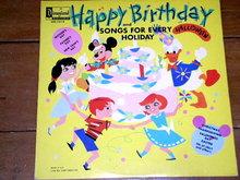 Happy Birthday,  Walt Disney Children's 33 Record Album