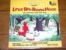 Little Red Riding Hood,  Walt Disney Children's 33 Record Album