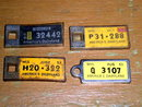 Miniature License Plate Keyring Tags