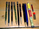 Lot of 8 old mechanical pencils and lead packages