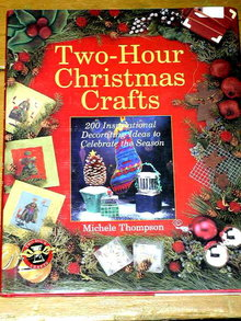 Two Hour  Christmas Crafts Book  -  QK  - SALE ITEM