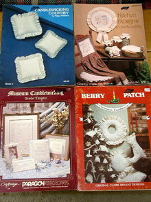 Set/4 Candlewicking  Booklets  -  PTB