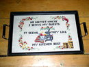 Needlepoint Serving Tray