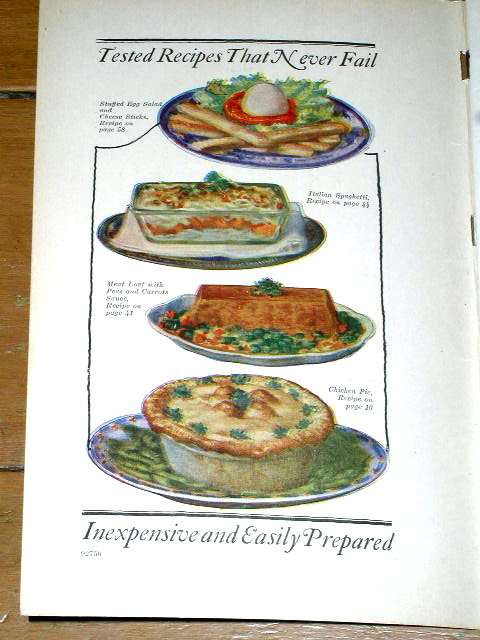 The Fifty-Two Sunday Dinners Cook  Book, 1927  -  CK