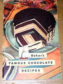 Baker's Famous Chocolate Recipes Cook Book - 1936  -  CK