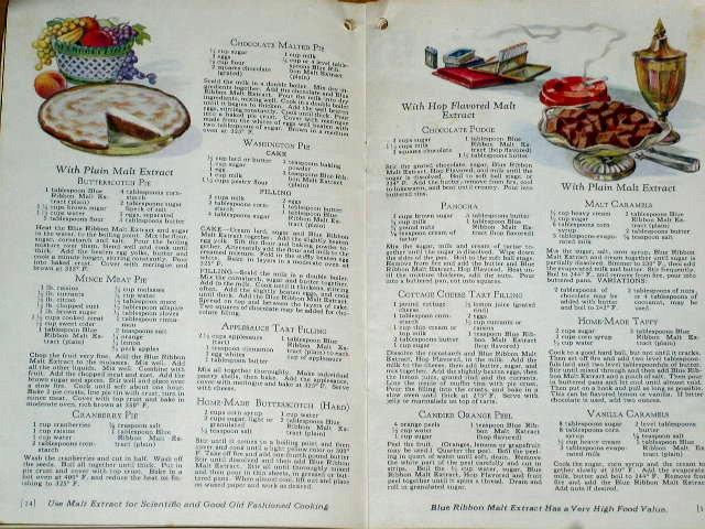 Blue Ribbon Malt Extract  Cook Book  -  CK