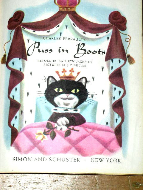 Puss In Boots,  Second Printing,    Little Golden Books