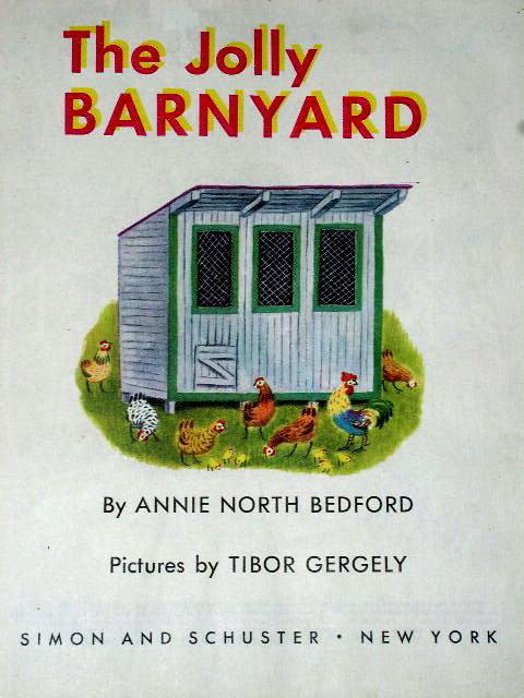 The Jolly Barnyard,  Third Printing,   Little Golden Book.