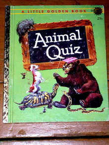 Animal Quiz, First Printing,  Little Golden Book