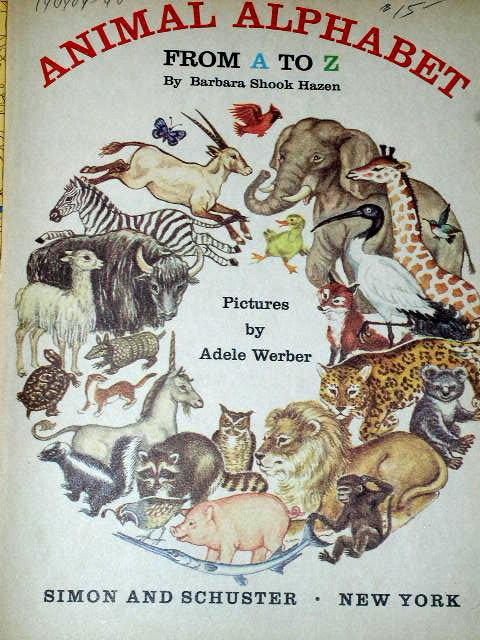 Animals Alphabet,  First Printing,  Little Golden Book