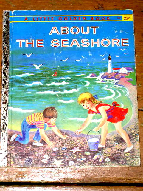About The Seashore,  First Printing,  Little Golden Book